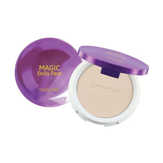Cathy Doll Magic Dolly Face Two Way Cake Powder SPF30 PA+++ 12g. #21 Light Beige