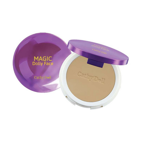Cathy Doll Magic Dolly Face Two Way Cake Powder SPF30 PA+++ 12g. #25 Sand Beige