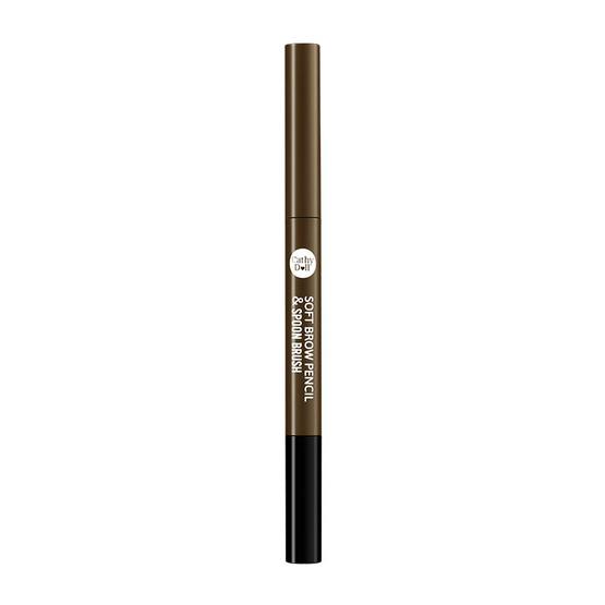 ลดราคา !! Cathy Doll Soft Brow Pencil & Spoon Brush 0.28 g #04 Dark Brown - Cathy doll, ผลิตภัณฑ์ความงาม