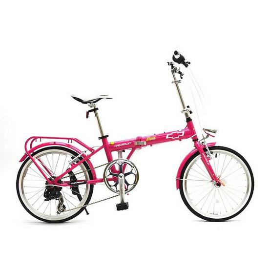 Chevrolet Folding bike จักรยานพับได้ รุ่น CLASSIC 2007A (สีชมพู)