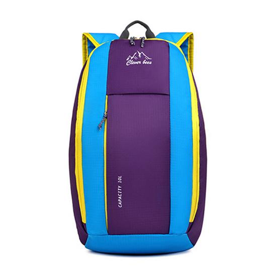 Clever Bees กระเป๋าเป้สะพายหลัง สีม่วง-ฟ้า