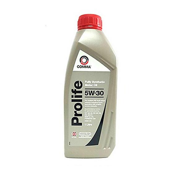Comma PRO1L : น้ำมันเครื่องสังเคราะห์แท้ เบนซิน ดีเซล PROLIFE 5W30 ใช้ PAO (Polyalphaolefin) ผสม