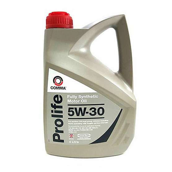 Comma PRO4L : น้ำมันเครื่องสังเคราะห์แท้ เบนซิน ดีเซล PROLIFE 5W30 ใช้ PAO (Polyalphaolefin) ผสม