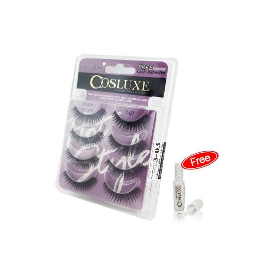 Cosluxe Valuepack Eyelashes [4 Pairs] FREE Lash Adhesive