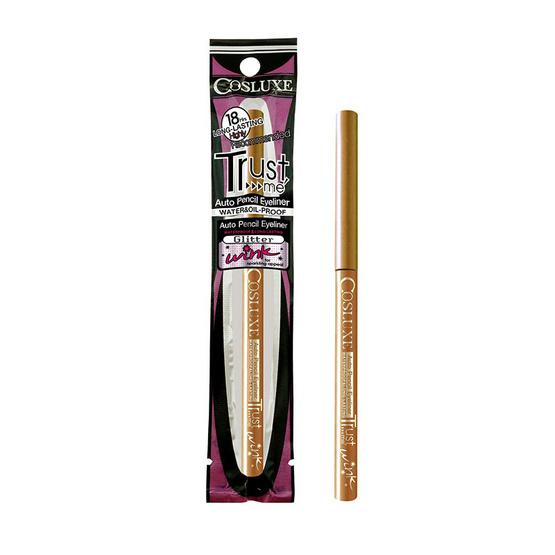 Cosluxe auto pencil eyeliner trust me wink #Shinny Gold (สีทองกลิตเตอร์)
