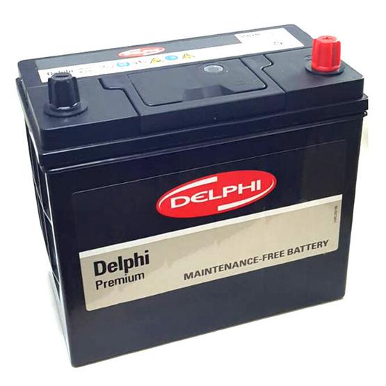 DELPHI แบตเตอรี่สีดำ รุ่น 55B24L-SMF