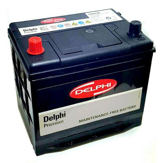 DELPHI แบตเตอรี่ สีดำ รุ่น 55D23R-SMF