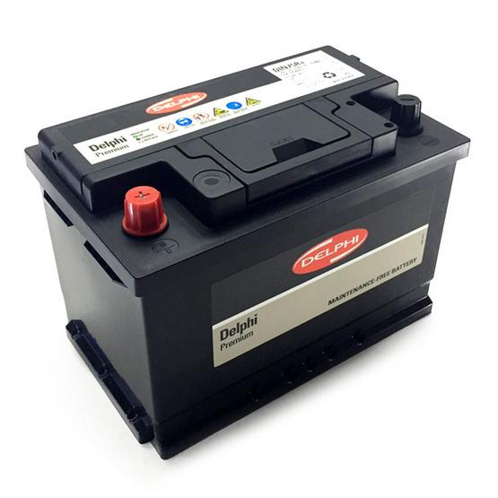 DELPHI แบตเตอรี่ สีดำ รุ่น DIN75R+SMF