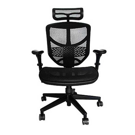 DF Prochair Ergonomic chair (Enjoy Series) เก้าอี้สำนักงานมีที่รองศีรษะเพื่อสุขภาพ รุ่น JJ-H สีดำ