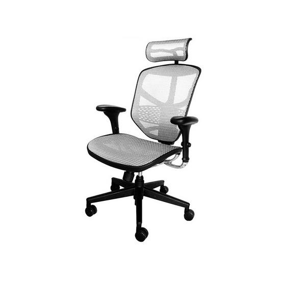 DF Prochair Ergonomic chair (Enjoy Series) เก้าอี้สำนักงานมีที่รองศีรษะเพื่อสุขภาพ รุ่น JJ-H สีขาว