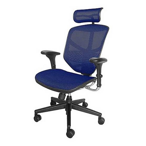 DF Prochair Ergonomic chair (Enjoy Series) เก้าอี้สำนักงานมีที่รองศีรษะเพื่อสุขภาพ รุ่น JJ-H สีน้ำเงิน
