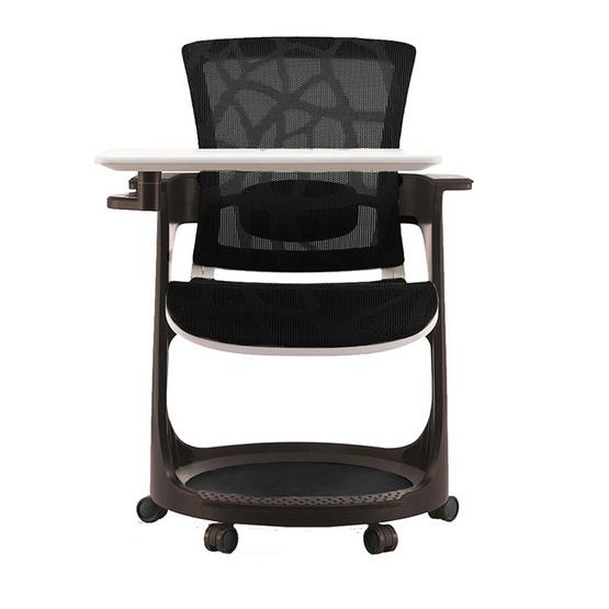 DF Prochair Ergonomic chair (Skate Series) เก้าอี้เพื่อสุขภาพ สำหรับห้องอบรม มีโต๊ะและช่องวางของในตัว รุ่น SK-EP สีน้ำเงิน