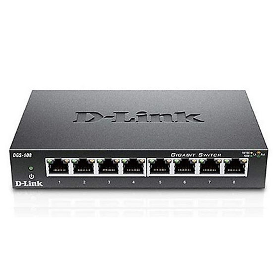 D-Link 8-port Unmanaged Gigabit Switch Metal (DGS-108)