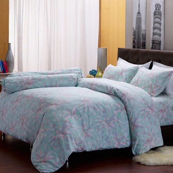Darling Deluxe ชุดผ้าปูที่นอน 5ฟุต5ชิ้น+ผ้าห่มนวม ลายซัมเมอร์ดิว