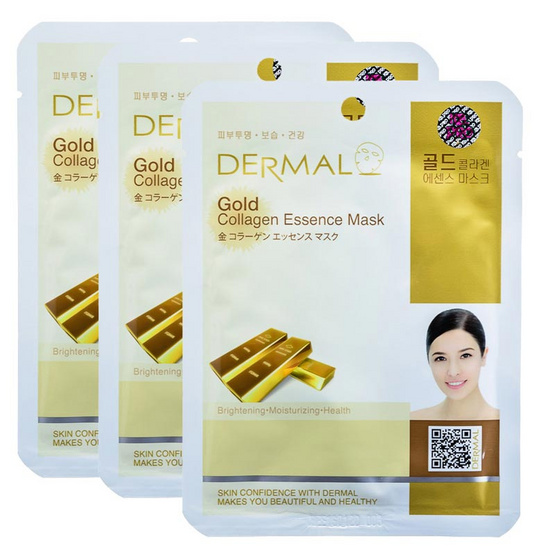 Dermal Gold collagen essence mask 23g. #Gold
