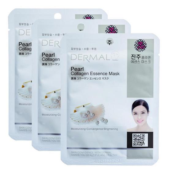 Dermal Pearl collagen essence mask 23g. #White