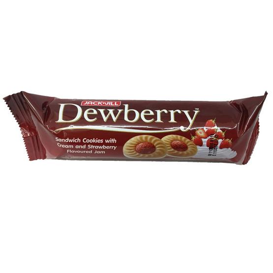 Dewberry ดิวเบอร์รี่ คุกกี้แซนวิช สอดไส้ครีม แยมสตรอเบอร์รี่ ขนาด 72 g. (24 ชิ้น)