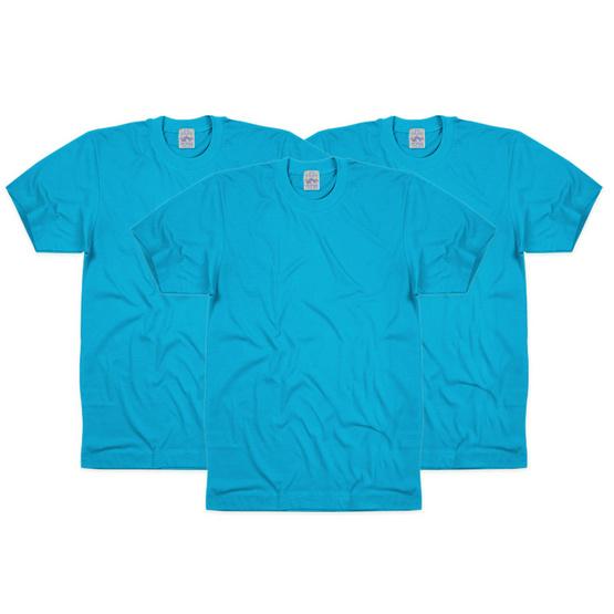 Double Goose เสื้อยืดคอกลม 3330C-2254 3ชิ้น/แพ็ค สีน้ำทะเล