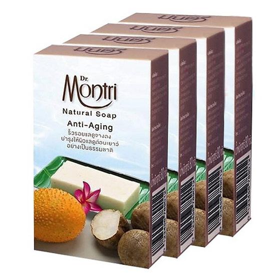 Dr.montri Natural Soap Anti Aging 4 Pcs ลดริ้วรอย บำรุงผิว