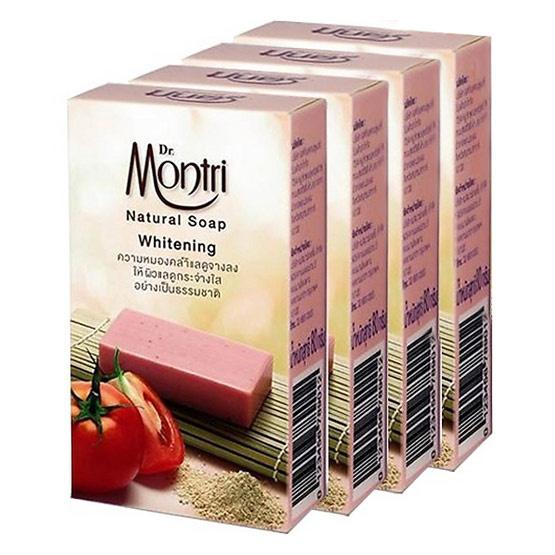 Dr.montri Natural Soap Whitening 4 Pcs ลดความหมองคล้ำ