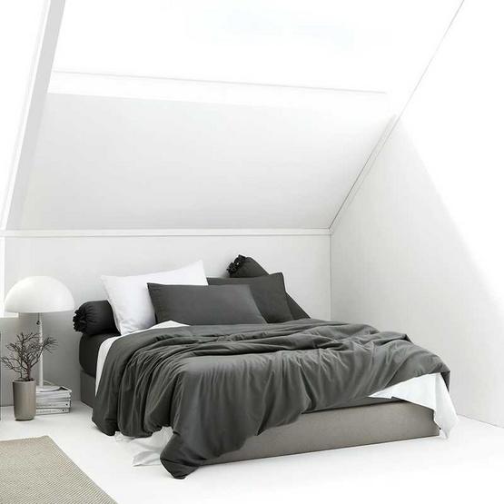 Dunlopillo  ผ้านวม 90x100+ผ้าปูที่นอน 6 ฟุต 5ชิ้น Softatex  DL-Col-Slate