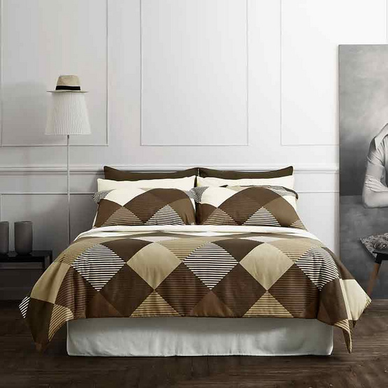 Dunlopillo ผ้าปูที่นอน รุ่น Softatex 3.5 ฟุต 3 ชิ้น + ผ้านวม 70x100 นิ้ว DL-04