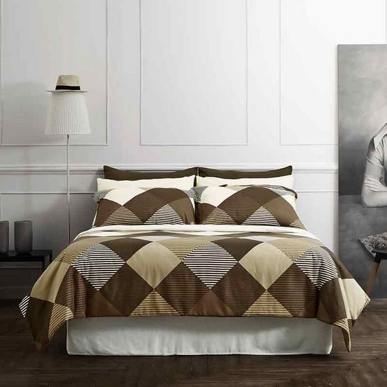 Dunlopillo ผ้าปูที่นอน รุ่น Softatex 6 ฟุต 5 ชิ้น + ผ้านวม 90x100 นิ้ว DL-04