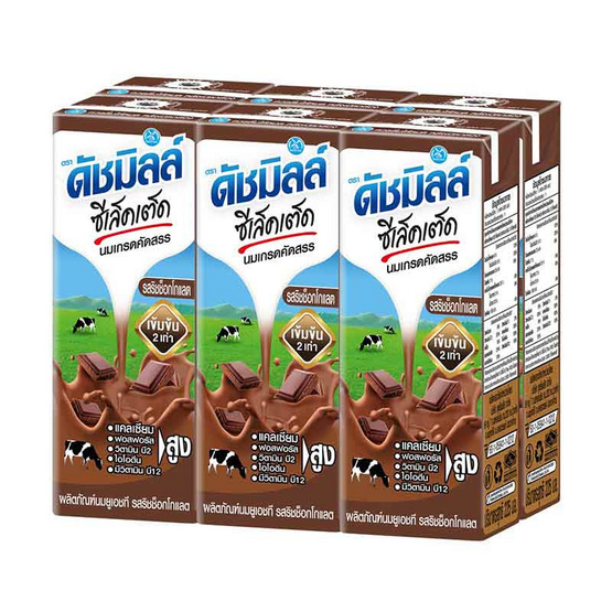 Dutch Mill ดัชมิลล์ ซีเล็คเต็ด นม UHT รสริชช็อคโกแลต ขนาด 225 ml. (36 ชิ้น)