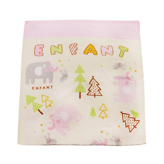 ENFANT ผ้าขนหนู ลายช้าง สีชมพู ขนาด 24 x 48 นิ้ว