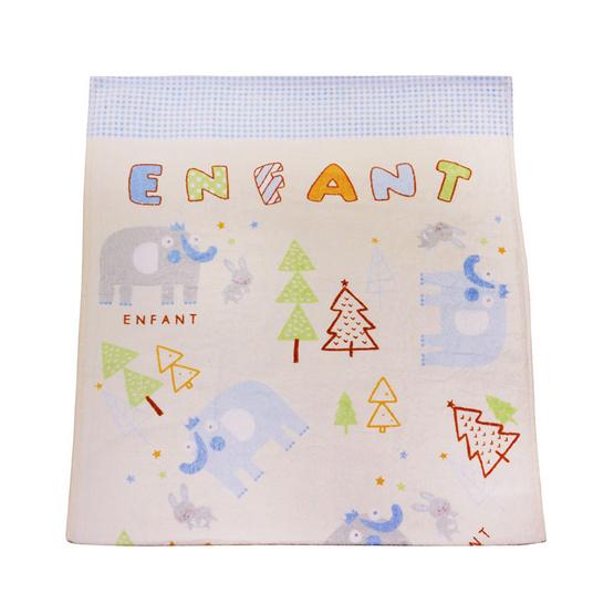 ENFANT ผ้าขนหนู ลายช้าง สีฟ้า ขนาด 24 x 48 นิ้ว