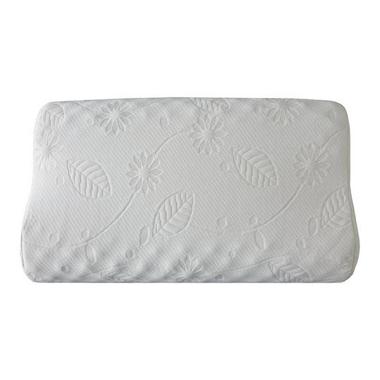 Erawan หมอนยางพาราธรรมชาติ100% รุ่น คอนทัวร์ น็อบบี้ ขาว