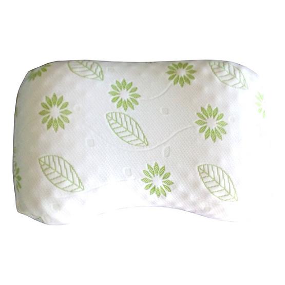 Erawan หมอนยางพาราธรรมชาติ100% รุ่น ชาร์โคล ฮาร์ท น็อบบี้ ขาว-เขียว