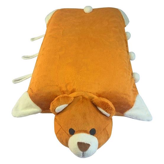 Erawan หมอนยางพาราธรรมชาติ100% ตุ๊กตา มีซิป DP04 หมีสีน้ำตาล