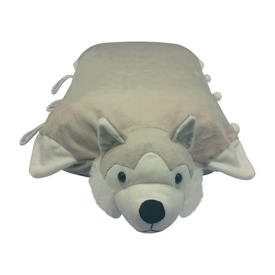 Erawan หมอนยางพาราธรรมชาติ100% ตุ๊กตา มีซิป DP16 สุนัขไซบีเรียน