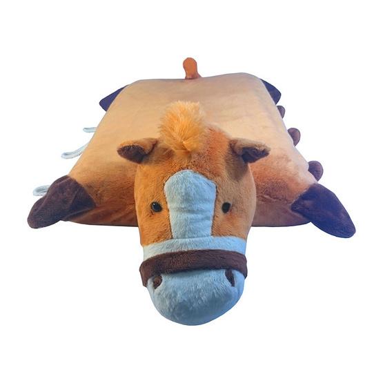 Erawan หมอนยางพาราธรรมชาติ100% ตุ๊กตา มีซิป DP22 ลาสีน้ำตาล