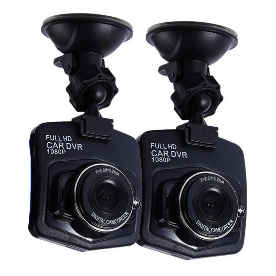 FHD Car Cameras กล้องติดรถยนต์ แพ็คคู่ สีดำ-สีดำ รุ่น c900