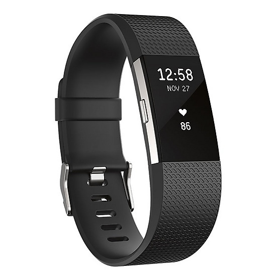 Fitbit สายรัดข้อมือเพื่อสุขภาพ Charge 2 Black Size S