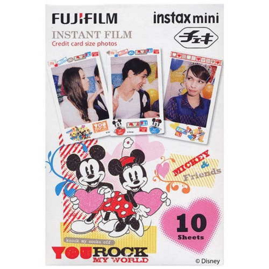 Fujifilm ฟิล์ม Instax Mini Film ลาย Mickey Rock