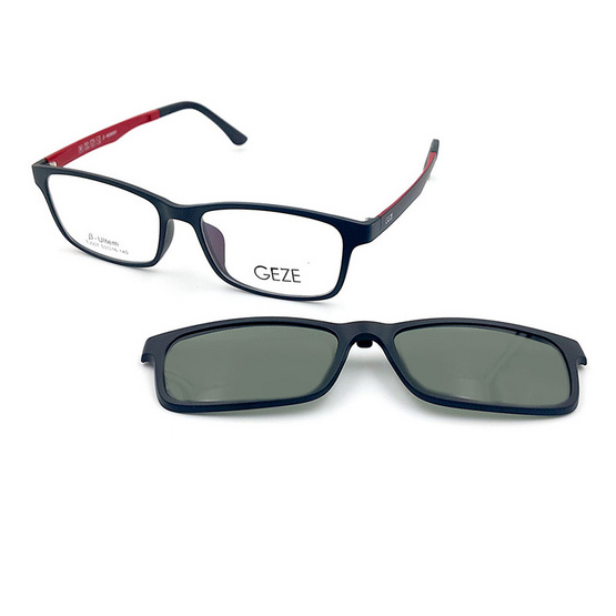 GEZE กรอบแว่นสายตา รุ่น TJ007-C2 พร้อม Clip-On เลนส์ Polarized