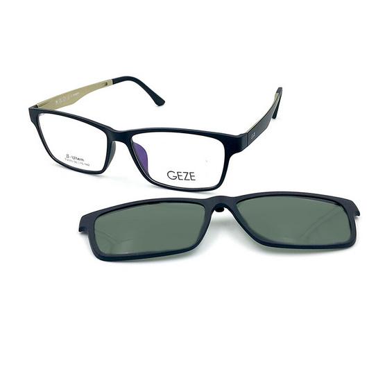 GEZE กรอบแว่นสายตา รุ่น TJ010-C3 พร้อม Clip-On เลนส์ Polarized
