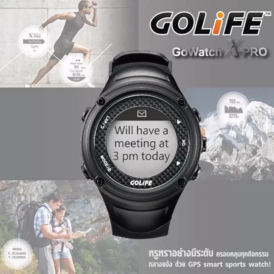 GOLiFE GoWatch สมาร์ทวอทช์ Xpro GPS Sport Watch Black