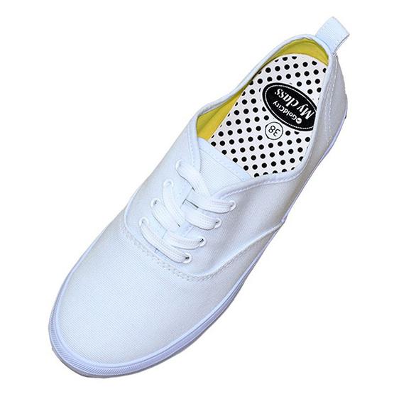 Gold City รองเท้านักเรียน รุ่น Classic My Class 2015 สีขาว/ดำ