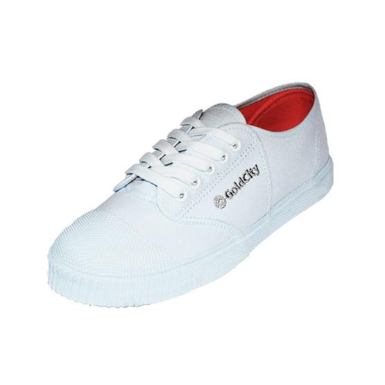 Gold City รองเท้านักเรียน รุ่น Classic Rock 205s สีขาว