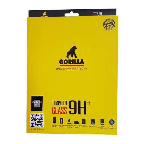 Gorilla Film iPad Mini 4 กันรอยขีดข่วน ระดับ 9H+