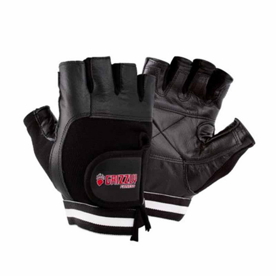 Grizzly Fitness PAWS LEATHER TRAINING GLOVES ถุงมือฟิตเนสรุ่นพิเศษ size L