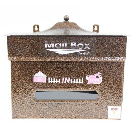 HANABISHI ตู้รับจดหมาย  LT-028 สีน้ำตาล