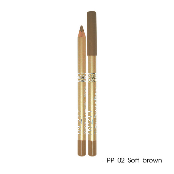 IN2IT 2-way Powder Eyebrow Pencil 1.29g #PP02 Soft brown