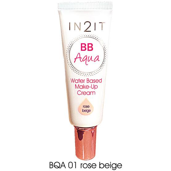 IN2IT BB Aqua  Make-Up Cream20ml. #BQA01 Rose beige