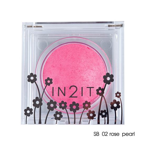 IN2IT Sheer Shimmer Blush 4g #SB02 Rose pearl