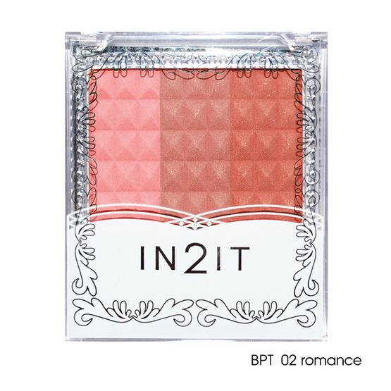 IN2IT Waterproof Triple Blush 8g #BPT02 Romance